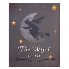 The Witch is In Lit' Graphic Art on Canvas