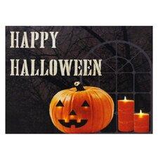 Happy Halloween Lit' Graphic Art on Canvas