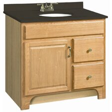 "Richland 37"" Single Door Bathroom Vanity Set"