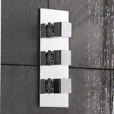 Kubix Triple Concealed Shower Valve with Diverter