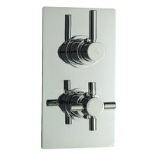 Tec Twin Concealed Shower Valve with Diverter