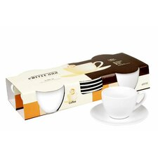 Coffee Bar 6.8 oz. Cup and Saucer (Set of 4)
