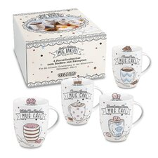 4 Piece Bakery Mug Set (Set of 4)