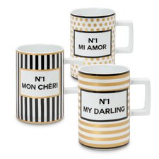 3 Piece Tres Chic Coffee Mug Set