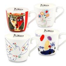 4 Piece Picasso Mug Set