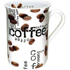 Coffee Shop 10 Oz. Coffee Collage Mug (Set of 4)