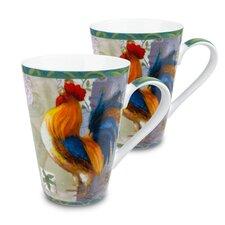 Rooster Morning Star 13 Oz. Mug (Set of 2)