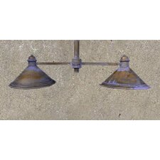 Rustik American Coop Two Light Chandelier