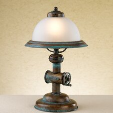 """Rustik Coffee 15.75"""" H Table Lamp with Bell Shade"""
