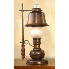 """Rustik Rustica 18.9"""" H Table Lamp with Bell Shade"""