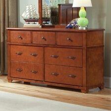 Woodridge 7 Drawer Extra-Wide Solid Wood Dresser