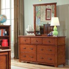 Woodridge 7-Drawer Wood Dresser with Mirror