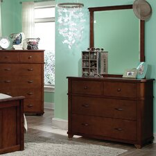 Woodridge 4-Drawer Wood Dresser with Mirror