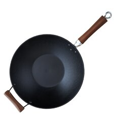 "GlobalKitchen 14"" Nonstick Light Cast Iron Wok"