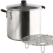 GlobalKitchen 3 Piece 10 Qt. Steamer Set with Lid