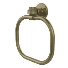 Continental Wall Mounted Towel Ring with Groovy Detail