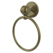 Satellite Orbit Two Wall Mounted Single Towel Ring with Groovy Detail