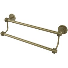 "Satellite Orbit Two 24"" Double Wall Mounted Towel Bar with Dotted Detail"