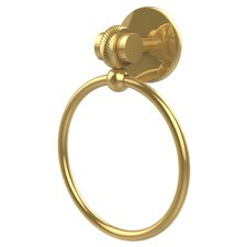 Satellite Orbit Two Wall Mounted Single Towel Ring with Twist Detail