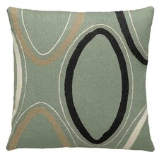 Ovals Wool Throw Pillow