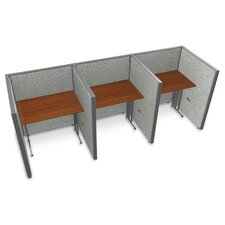 Privacy Station Panel System 1x3 Configuration