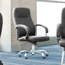 Stimulus Series Adjustable Synthetic Leather Executive Chair with Padded Arms
