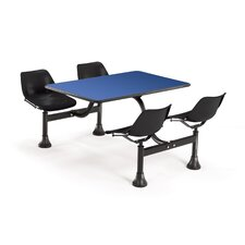 """Group/Cluster Table and Chairs 48"""" x 71"""" Rectangular Cafeteria Table"""