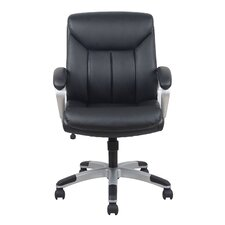 Leather Executive Office Chair with Arms