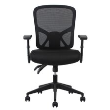 Essentials Mid-Back Mesh Task Chair with Arms and Lumbar Support