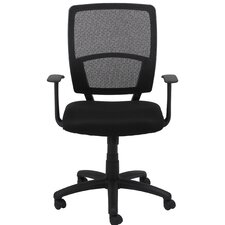 Essentials Mid-Back Mesh Desk Chair with Arms