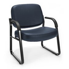 Big and Tall Vinyl Guest / Reception Chair with Arms