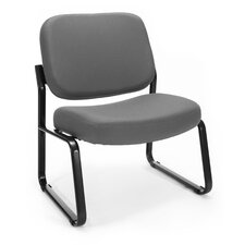 Big and Tall Upholstered Armless Guest / Reception Chair