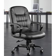 Leather Back Big and Tall Executive Chair with Arms