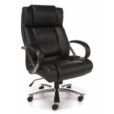 Avenger Series Big and Tall Leather Executive Swivel Chair with Arms