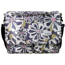 Seattlel Floral Poly Satin Messenger Bag