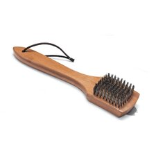 "12"" Grill Brush with Bamboo Handle"