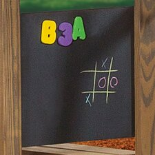 Wall Mounted Magnetic Chalkboard, 2' H x 2' W