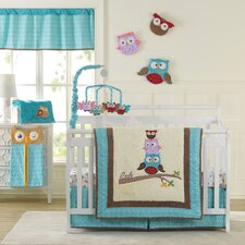 Spotty Owls 10 Piece Crib Bedding Set