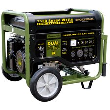 Sportsman Series 7500 Watt Portable Dual Fuel Generator