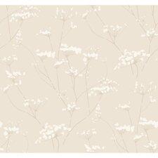 "Modern Luxe Enchanted 33' x 20.5"" Botanical Wallpaper"