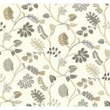 "Waverly Small Prints a New Leaf 27' x 27"" Botanical Wallpaper"