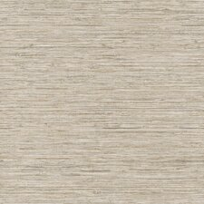 "Nautical Living Horizontal Grasscloth 33' x 20.5"" Herringbone Wallpaper"