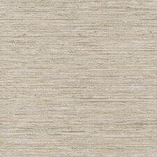 "Nautical Living Horizontal Grasscloth 33' x 20.5"" Herringbone Wallpaper"