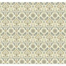 """Waverly Small Prints Santa Maria 27' x 27"""" Botanical Wallpaper"""