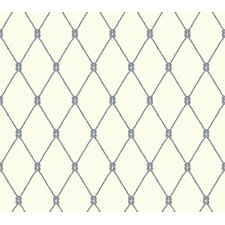 "Nautical Living Knot 27' x 27"" Trellis Wallpaper"