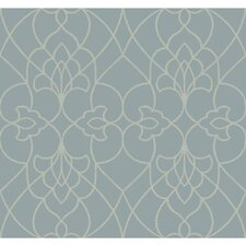 """Modern Luxe Dotted Pirouette 27' x 27"""" Geometric Wallpaper"""