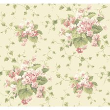 "Waverly Cottage Sweet Violets 33' x 20.5"" Floral Wallpaper"