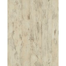 """Weathered Finishes 33' x 20.5"""" Wood Wallpaper"""
