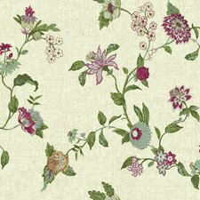 """Global Chic Graceful Garden Trail 33' x 20.5"""" Floral and Botanical Wallpaper"""
