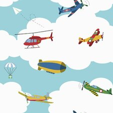 """Waverly Kids In 33' x 20.5"""" The Clouds Wallpaper"""